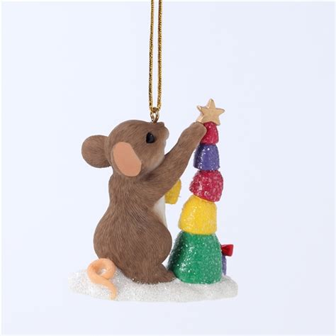 charming tails ornaments charming tails mouse stacking tree