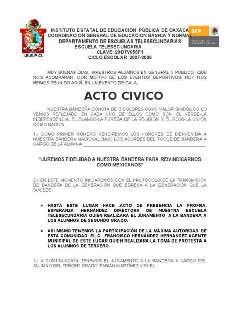 spots para clausura de fin de cursos acto civico