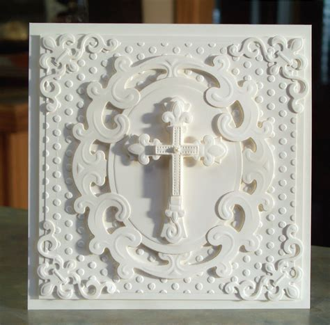 Handmade Religious Cards - handmade religious card for easter baptism or