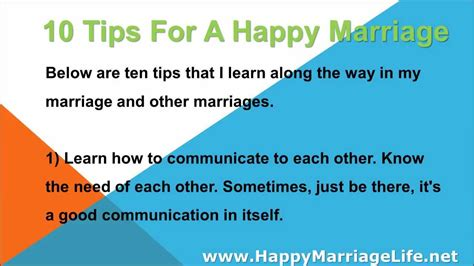 8 Tricks To A Great Marriage 10 tips for a happy marriage