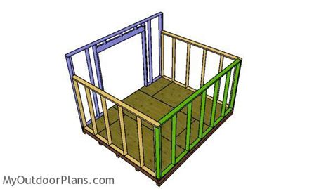 10x12 lean to shed plans myoutdoorplans free