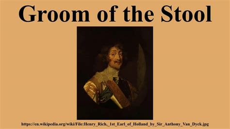 The Groom Of The Stool by Groom Of The Stool