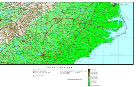 topographical map of carolina carolina elevation map