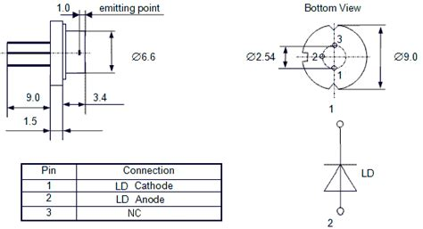 1n4007 diode pin configuration free space laser diode 500mw at 808nm