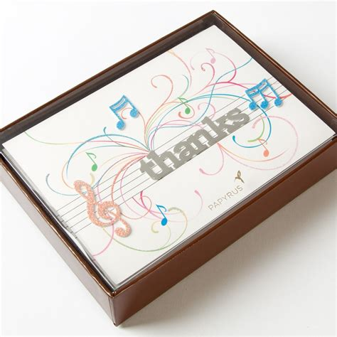 New Arrival Gendis Set By Zm musical notes handmade thank you cards set of 8