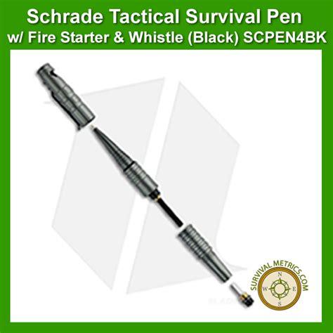 schrade survival pen schrade tactical survival pen w firestarter whistle
