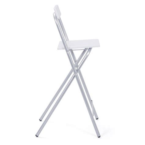 sgabello alto pieghevole sgabello alto bar pieghevole bianco in legno sedia moderna