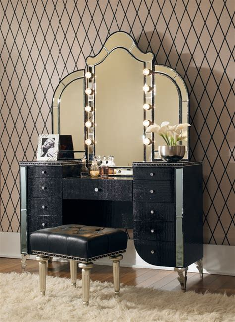 Vanity Set by Swank 3 Vanity Set In Black Traditional