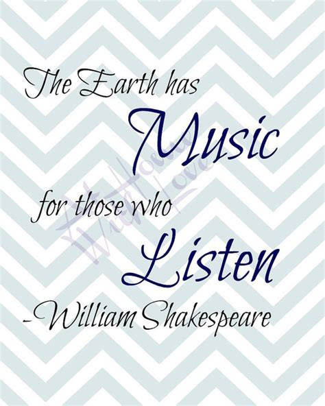 printable shakespeare quotes the earth has music for those who listen william