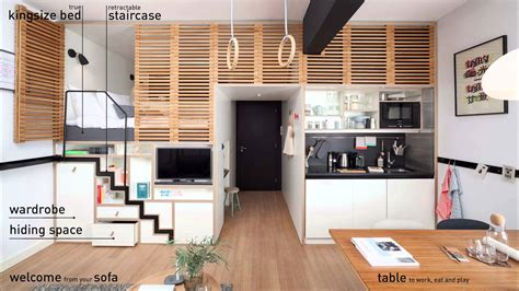 micro appartments how to create more space in less m2 zoku s spacious micro apartments youtube