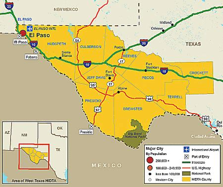 west texas cities map west texas hidta market analysis