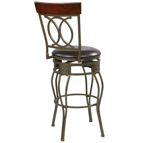 office bar stools office star cosmo 30 metal swivel espresso bar stool ebay