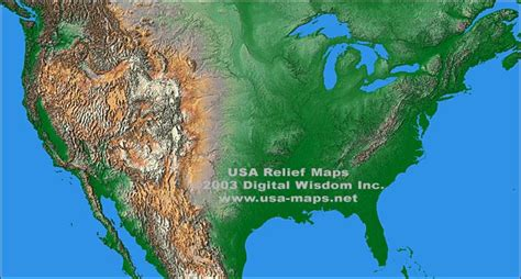 map usa relief usa maps relief maps and vector maps