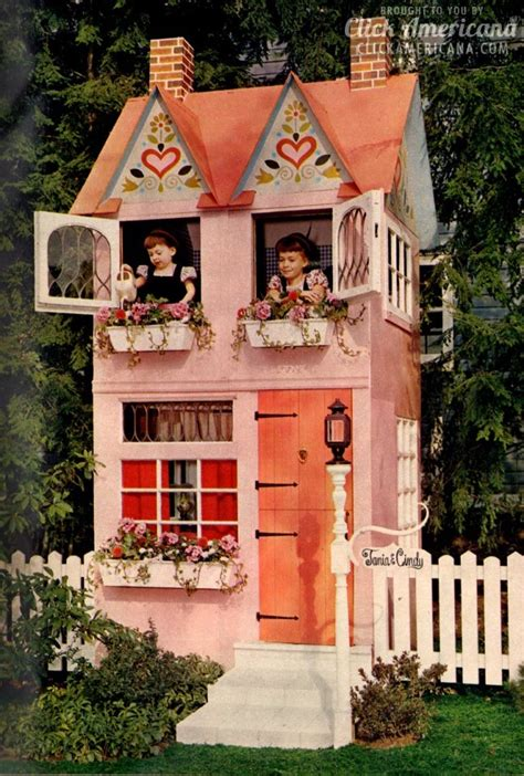 play in your own backyard build a dream come true play house in your backyard 1962 click americana