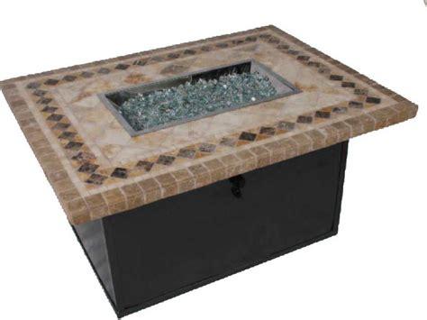 rectangle pit table suncoast cortez natura 48 x 36 rectangular pit