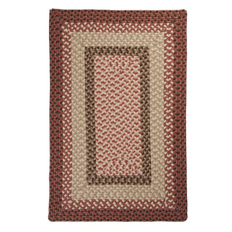 Square Outdoor Rug Shop Colonial Mills Tiburon Rusted Square Indoor Outdoor Braided Area Rug Common 12 X 12