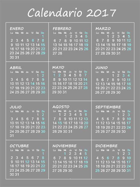 Calendario 2017 Para Calendario 2017 Gratis Para Imprimir 2017 Calendar