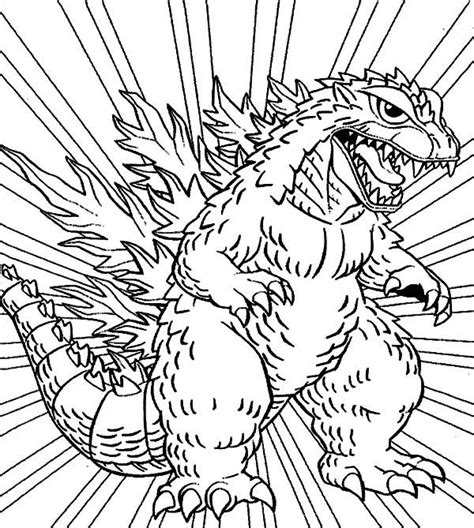 godzilla 2 coloring pages godzilla godzilla coloring pages for kids lineart