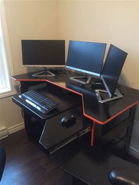Best Computer Gaming Desk Best 25 Gaming Desk Ideas On Pinterest Gaming Desk With Keyboard Tray Gaming Computer Desk L