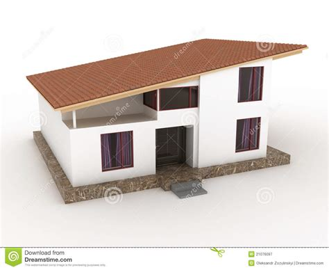 Home Design Exterior App the house with sloping roof 3 royalty free stock