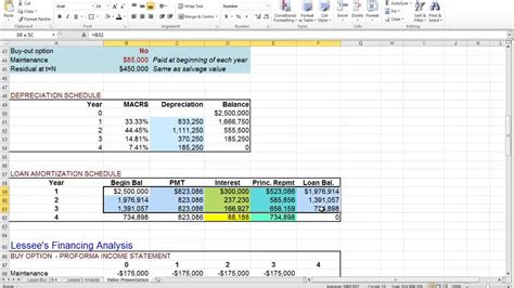 Comparative Lease Analysis Excel Spreadsheet Onlyagame Buy Excel Templates