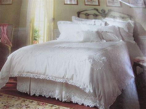 white lace bedding vintage 3 piece white battenburg lace twin duvet cover