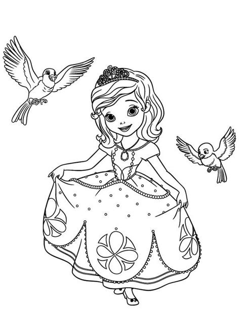 sofia the first coloring pages robin and mia coloringstar