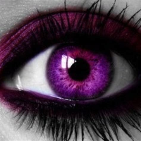 purple eye fun gorgeous colorful pinterest
