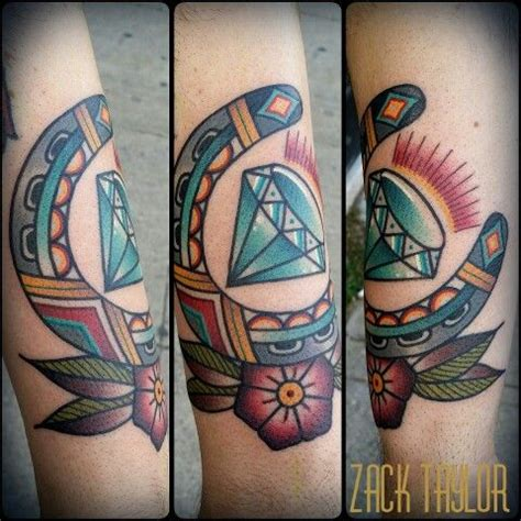 evermore tattoo traditional horeseshow and by zack
