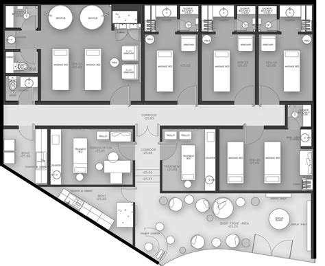 salon floor plan 1 floor plan pinterest offices dii wellness med spa architizer