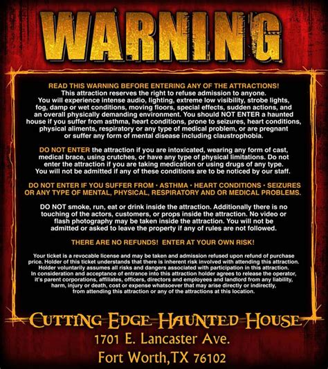 cutting edge haunted house haunted house in fort worth dallas texas cutting edge haunted house voted the best