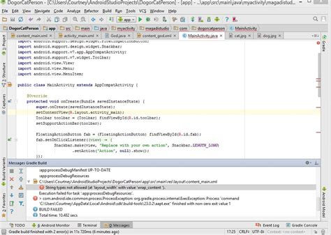 android studio r layout error xml string error in mainactivity in android studio