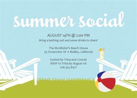 summer invitation templates free calm light blue summer invitation card