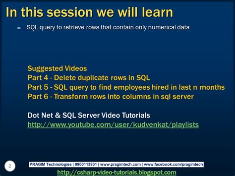 sql search query tutorial sql server net and c video tutorial part 7 sql query