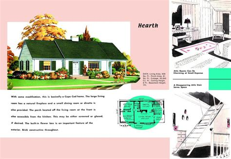 Cape Cod House Plans 1950s America Style 1950 Bungalow House Plans
