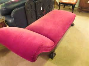 red fainting couch red velvet fainting couch sold ballard consignment