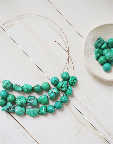 how to make a beaded chain necklace how to make a simple beaded necklace a beautiful mess