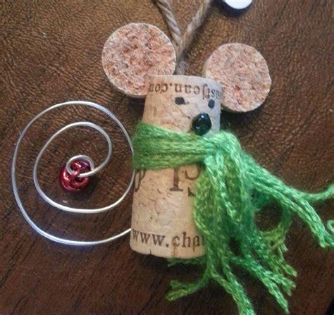 christmas cork idea images adorable mouse made of wine corks stuff wine cork ornaments cork