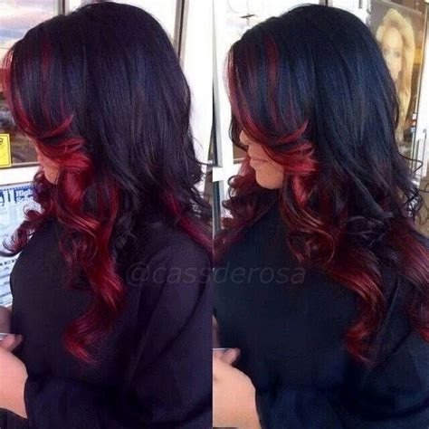 hair color dark on bottom 25 best ideas about highlights underneath on pinterest