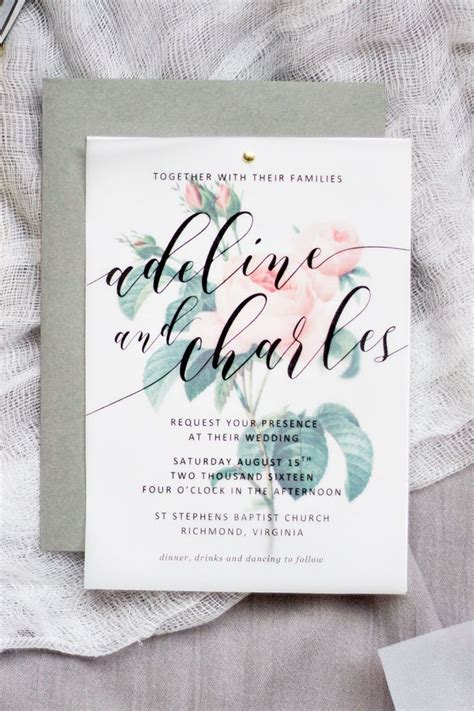 Printed Wedding Invitations Velum by The 25 Best Vellum Paper Ideas On Painting