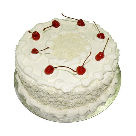 Vanilla Sponge With Cherries On Top   Just Cakes