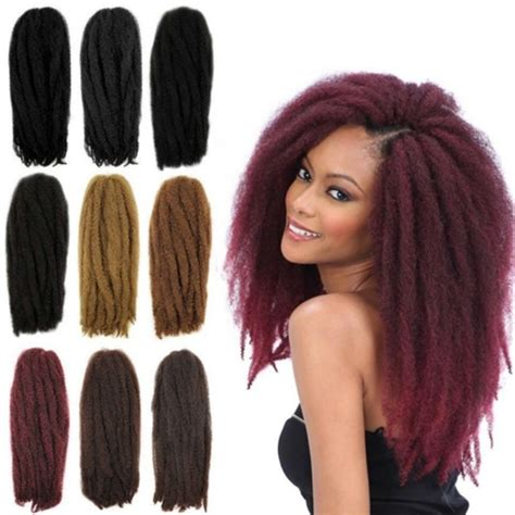 marley hair extensions wholesale afro kinky twist braid curly synthetic hair bulk extensions marley braid 18 20 inch