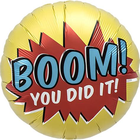 18 inch Boom! You Did It! Foil Balloon (1) [01066 01