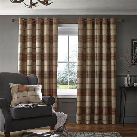 orange check curtains 25 best ideas about burnt orange curtains on pinterest