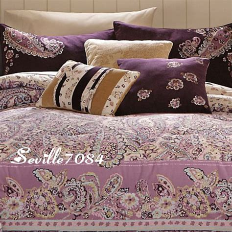 purple paisley comforter 11p twin paisley comforter quilt purple pink brown new ebay