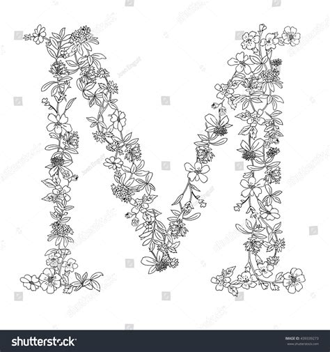 elegant black white floral english typography stock vector 439339273 shutterstock