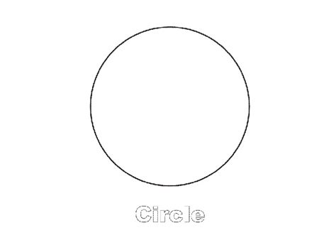 free coloring pages of circle shape