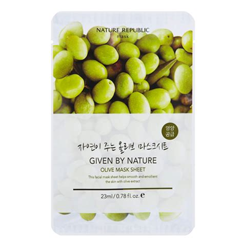 Nature Republic Olive Mask nature republic given by nature olive mask sheet 5ea