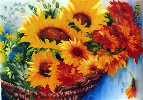 bob ross painting packets bob ross floral packet basket sunflower floral