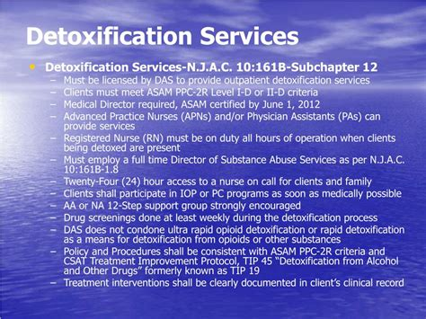 Ambulatory Detox Protocols by Ppt Outpatient Substance Abuse Treatment Licensure